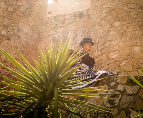 Lourdes Mataix, cabo Comparsa de Andaluces